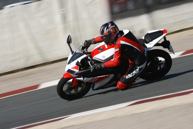Yamaha YZF-R125 Rennstrecke